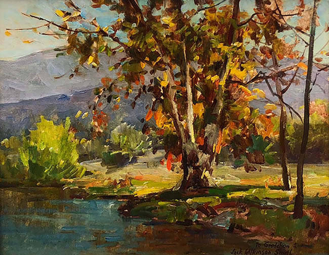 Jack Wilkinson Smith - Landscape with Fall Trees and Pond